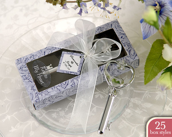 """Key to My Heart"" Bottle Opener in Personality Box ( 25 styles/c"