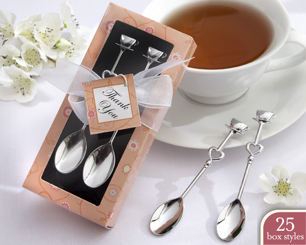 Silver Chrome Demitasse Spoons in Personality Box (25 styles/col