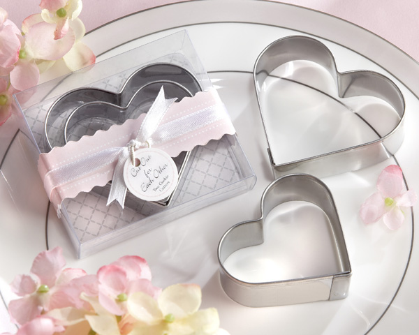 """Cut Out for Each Other"" Heart Cookie Cutters in Heart Shaped Or"