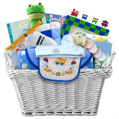 Precious Baby Boy Gift Basket Includes Shipping