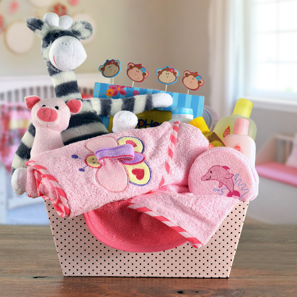 Baby Girl Bath & Toy Set