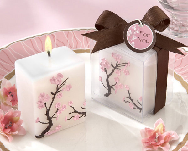 ?Cherry Blossom Elegance? Mini Candle (Set of Four)