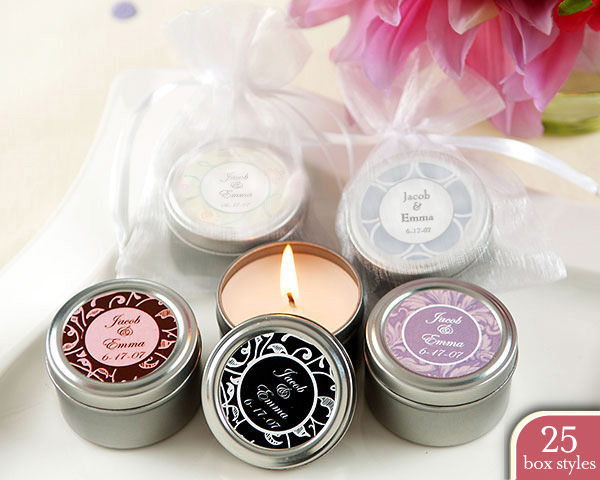 Personalized ?Personality? Travel Candles