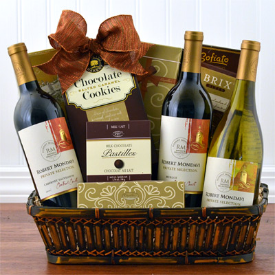 MONDAVI Triple With Chocolate Goody Basket