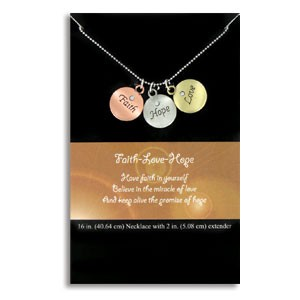 Inspirational Necklace with Tokens *includes shipping