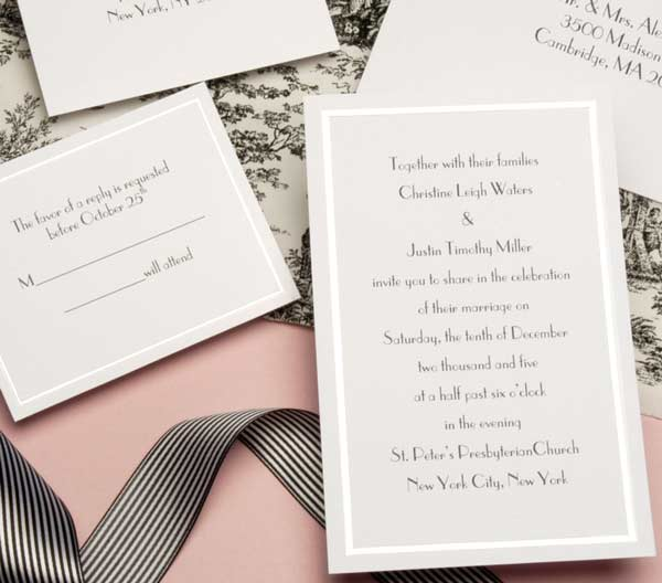 Pearl Border Printable Invitation Kit