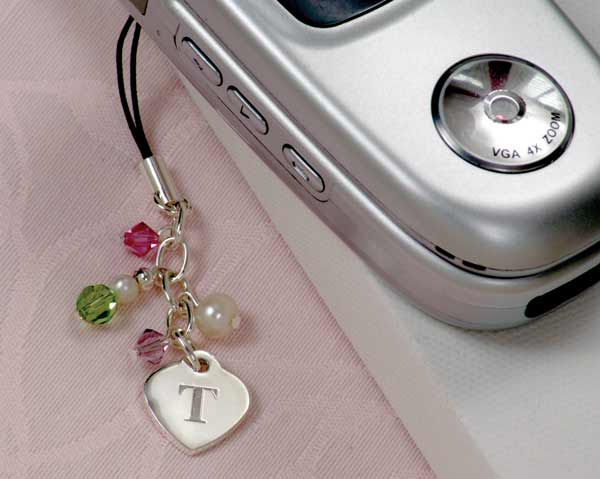 Cell Phone Heart Charm