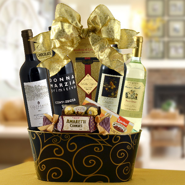 Bella Vita Italian Wine Basket