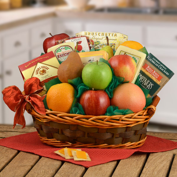 Deluxe Fruit & Cheese Basket