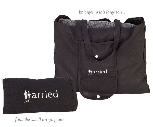 Just Married Expandable Tote