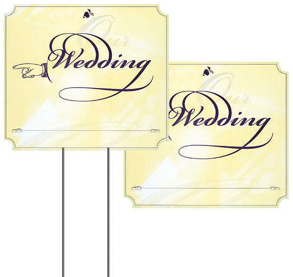 WEDDING SIGN-* NO STAND