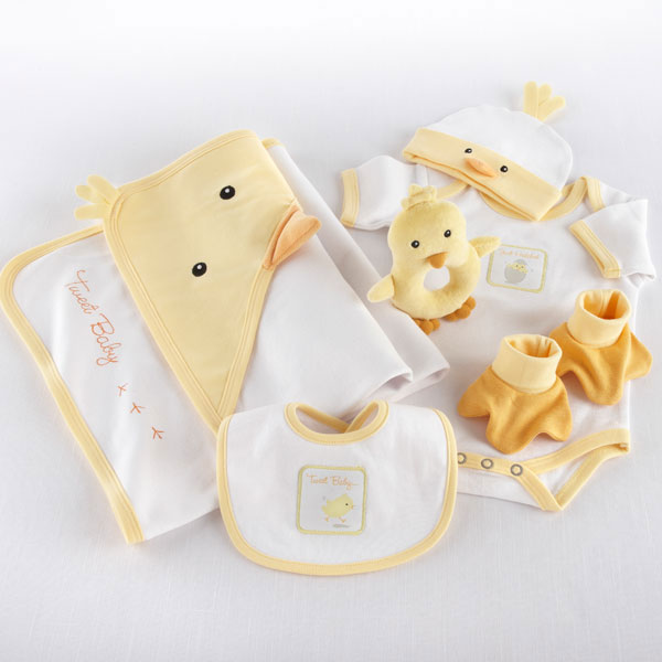"Just Hatched"" 7-Piece Layette Set Personalized""Chick"" Wagon"