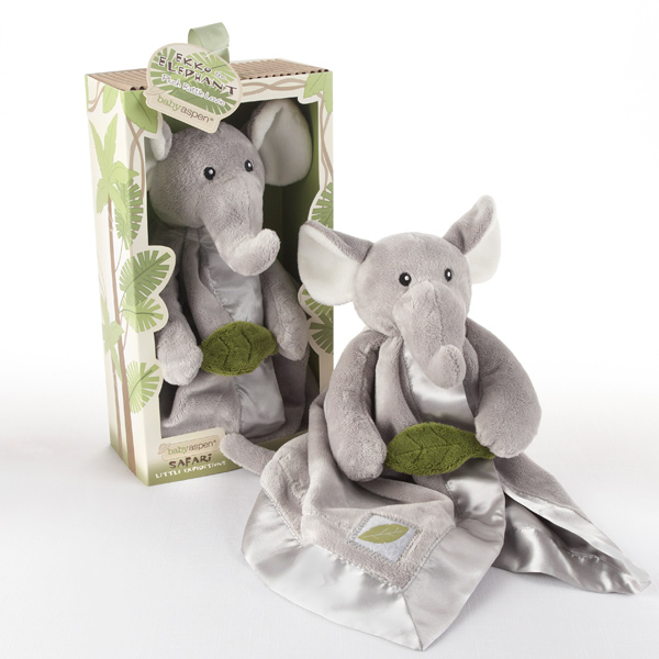 Ekko The Elephant Rattle and Blankie Set