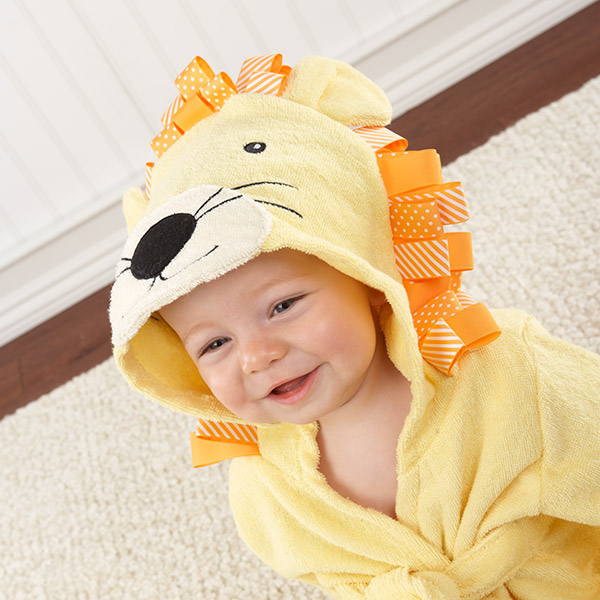 Big Top Bath Time Baby Lion Terry Robe