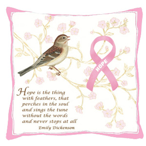 Pink Ribbon Hope Pillow Pillow Fundraising