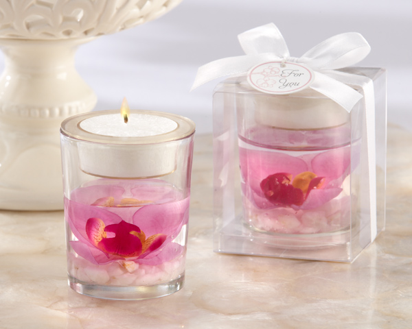 "Elegant Orchid"" Tealight Holder"