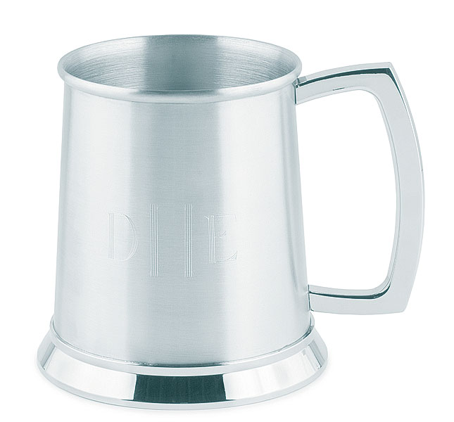 Personalized Stainless Steel Tankard-brushed mug