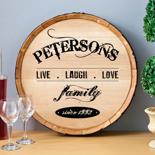 Wine Barrel Sign Personalized