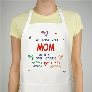Heartful Apron Personalized With 30 Names