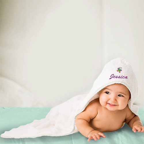 Personalized Baby Towel With Icon