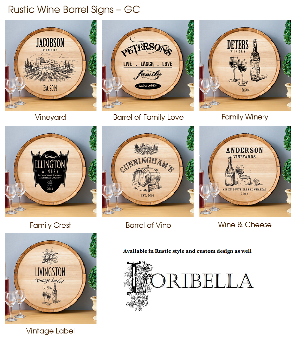 Wine Barrel Sign Custom