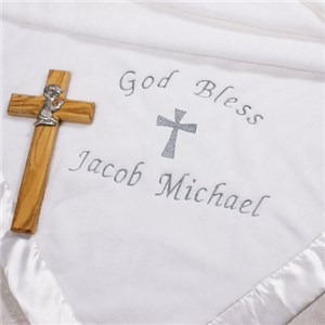 Personalized Christening Blanket
