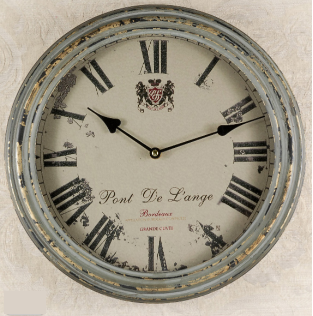 French Country Metal Wall Clock