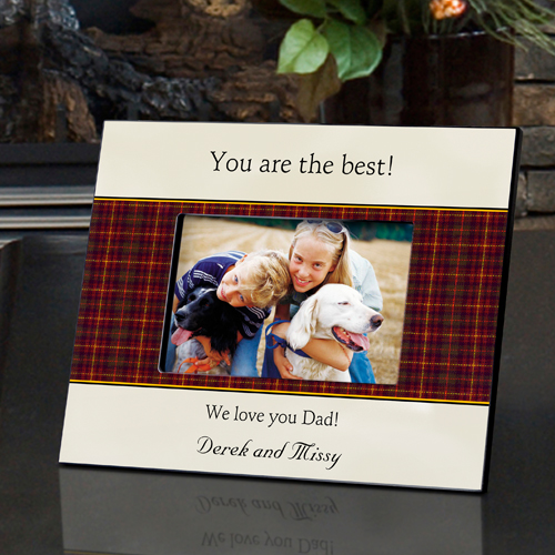 Father's Day Plaid Frame Personalized