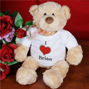 I Love You Bear Personalized