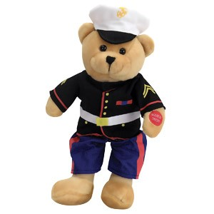 "Marine Bear Musical 11"" *includes shipping"