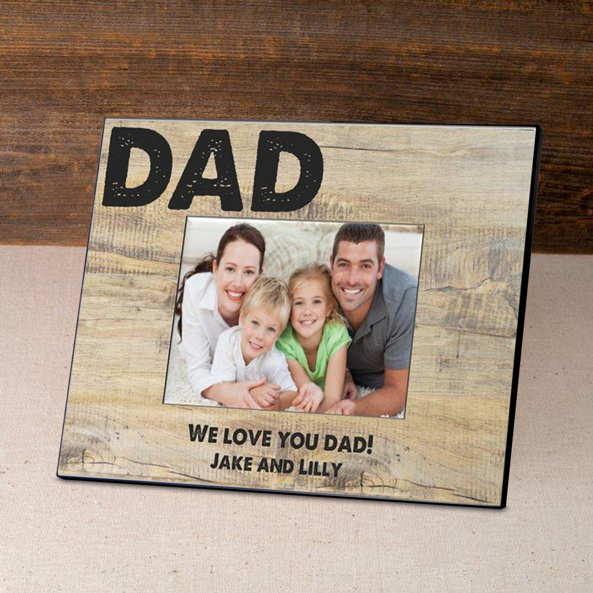 Rustic Personalized Classic Dad Father's Day Frame