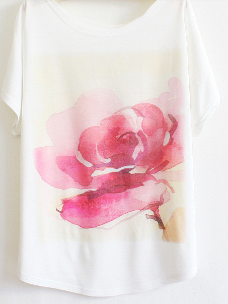 Poppy Hand Painted Top