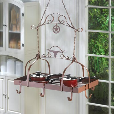 Longhorn Pot Rack *includes shipping