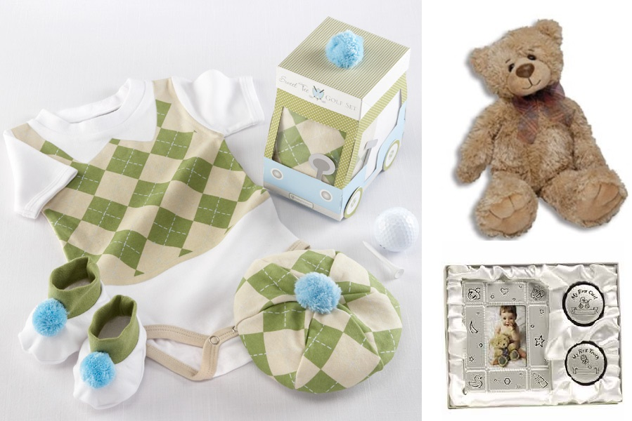 Future Golfer with Keepsake & Teddy Gift Basket