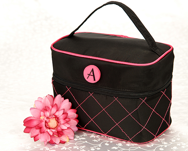 Monogrammed Cosmetic Travel Bag