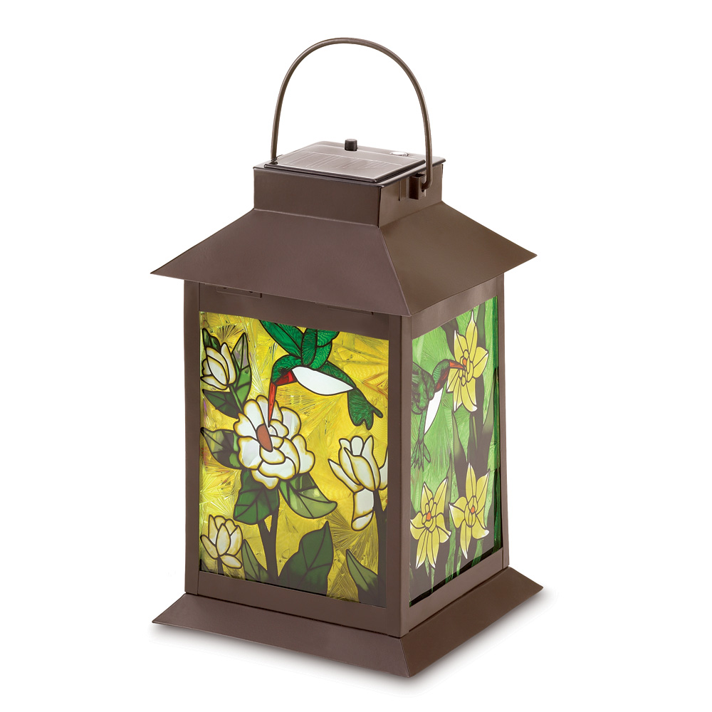 Stained Glass Solar Lantern