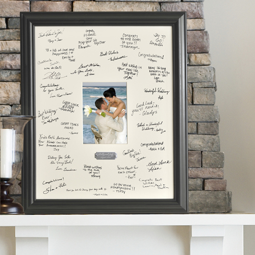 Personalized Wedding Wishes Frame with engraved plate